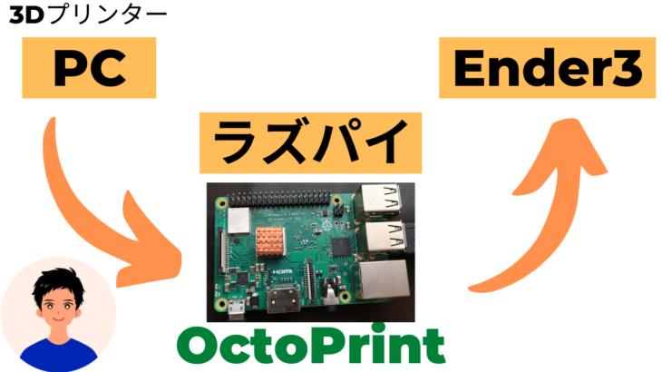 【3Ⅾプリンター】OctoPrint+RaspBerryPiで3Ⅾプリンターを制御